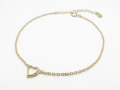 Little Open Heart Bracelet - K10 Yellow Gold w/Diamond
