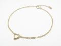 Little Open Heart Bracelet - K10 Yellow Gold w/Diamond