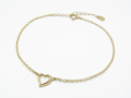Little Open Heart Bracelet - K10 Yellow Gold