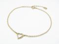 Little Open Heart Bracelet - K10 Yellow Gold