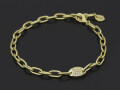Plain Chain Bracelet Medium w/Diamond