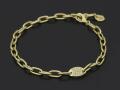Plain Chain Bracelet Medium w/Diamond