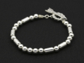 Arrow T-Bar Silver Beads Bracelet