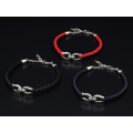 Horseshoe Leather Bracelet - Silver