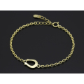 Horseshoe Amulet Chain Bracelet - K18Yellow Gold