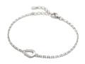 Small Horseshoe Chain Bracelet - Silver