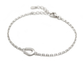 Small Horseshoe Chain Bracelet - Silver
