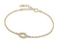 Small Horseshoe Chain Bracelet - K18Yellow Gold w/Diamond