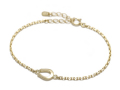 Small Horseshoe Chain Bracelet - K18Yellow Gold