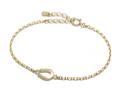Small Horseshoe Chain Bracelet - K18Yellow Gold