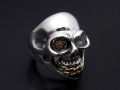 BILL WALL LEATHER×SYMPATHY OF SOUL  Medium Master Skull Ring - Silver×Bronze
