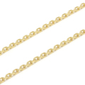 K18Gold 0.7 Square Chain
