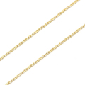 K18Gold 0.33 Square Chain