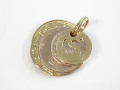 Coin Set Pendant - K18Yellow Gold&Pink Gold