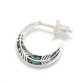 Feather Inlay Hoop Pierce