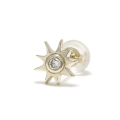 Sun Pierce - K10Yellow Gold w/Diamond