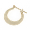 Moon Hoop Pierce - K10Yellow Gold