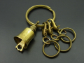 Key Ring with Bell - Brass