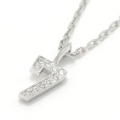 Number Necklace - Silver w/CZ