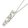 Diamond Paints Necklace - Silver w/Diamond