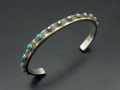 Silver Bangle with Turquoise