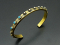 Brass Bangle with Turquoise