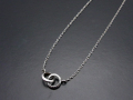 2 Ring Necklace - Silver