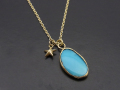 ATELIER MADE Arizona Turquoise Necklace - K10 Yellow Gold