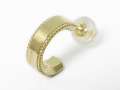 Mill Grain Hoop Pierce K18Yellow Gold