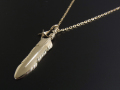 Feather & Star Necklace - K10Yellow Gold