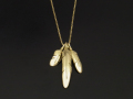 3Feather Necklace - K18 Yellow Gold