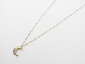 Little Holy Moon Necklace - K10Yellow Gold