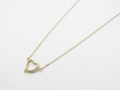 Little Open Heart Necklace - K10Yellow Gold w/Diamond