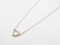 Little Open Heart Necklace - K10Yellow Gold w/Diamond