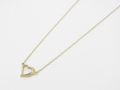 Little Open Heart Necklace - K10Yellow Gold