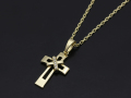Tied Cross Necklace 2015 Christmas Model - K18 Yellow Gold