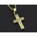 Small Gravity Cross Necklace - K18Yellow Gold w/Diamond
