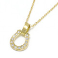 Small Charm Necklace - Horseshoe - K18 Yellow Gold w/Diamond