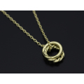 Small Charm Necklace - W Ring - K18 Yellow Gold