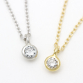 Gem Necklace - K18Gold w/Diamond
