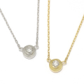 One Diamond Necklace - K18Gold w/Diamond