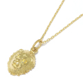 Small Charm Necklace - Lion Head - K18Yellow Gold