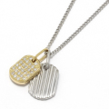 2018 Christmas Model Small Dog Tag Necklace - K18Yellow Gold × Pt900 w/Diamond