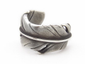 Old Feather Toe Ring - Silver