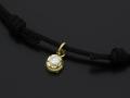 Cord Bracelet用 Peace Charm - K18Yellow Gold w/Diamond