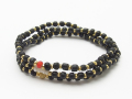 Black Beads Bracelet / Anklet / Necklace