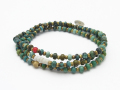 Turquoise Beads Bracelet / Anklet / Necklace