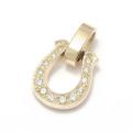 Horseshoe Amulet - K10Yellow Gold w/Diamond