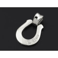 Horseshoe Large Pendant - Silver