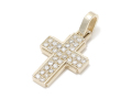 Dazzle Cross Pendant - L K10Yellow Gold w/Diamond